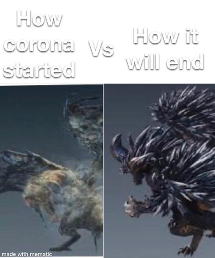 How it started vs ending
