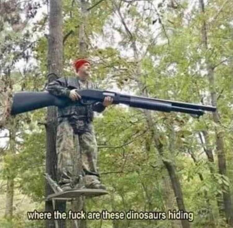 Where are these dinosaurs hiding, Monster Hunter meme