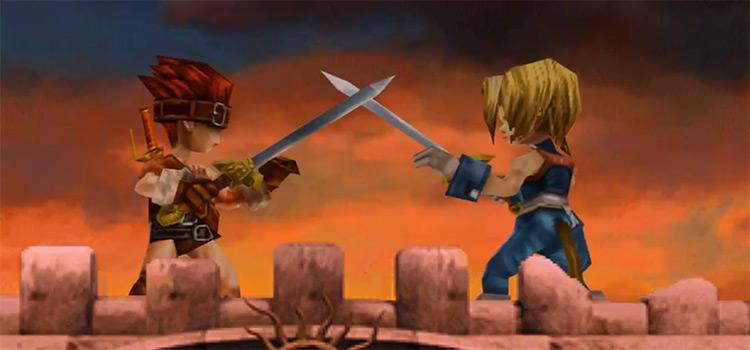 FF9 Battle Scene Screenshot for PSX