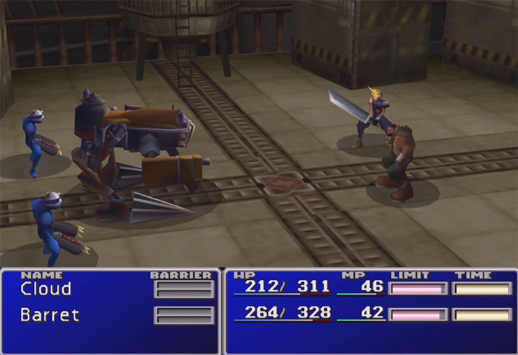 Final Fantasy VII PlayStation 1 Gameplay Screenshot