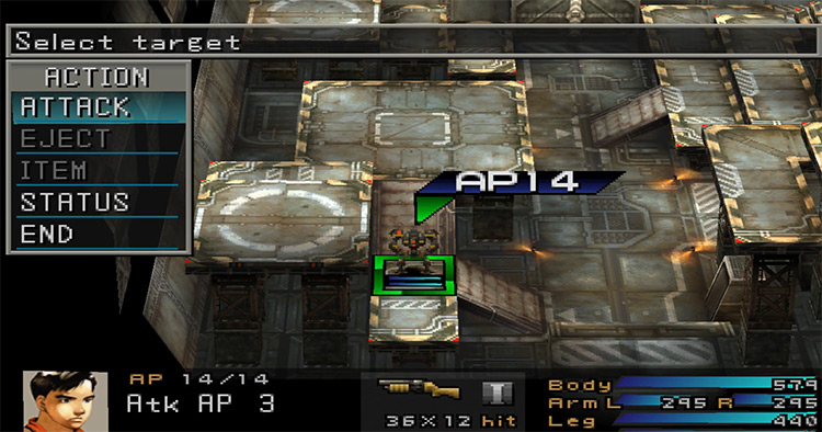 Front Mission 3 PlayStation 1 Gameplay Screenshot