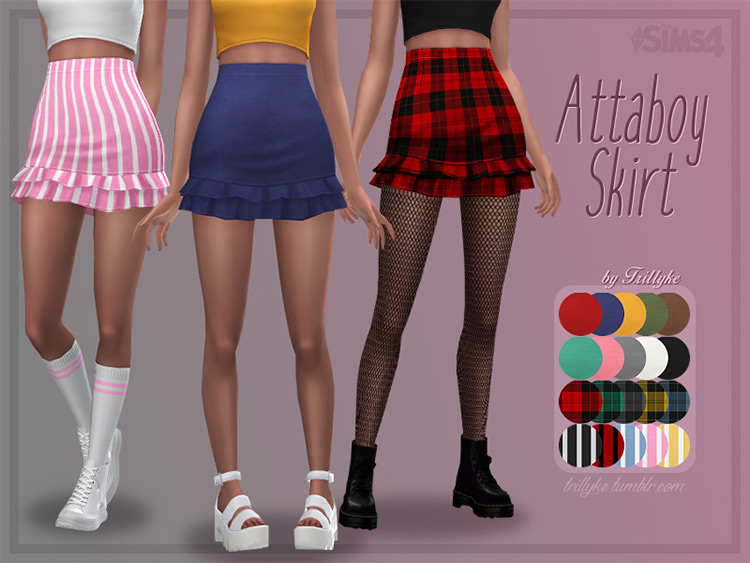 Attaboy Skirt Sims 4 CC