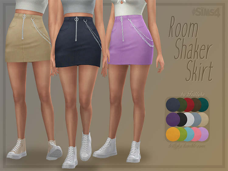 Room Shaker Skirt for TS4 CC