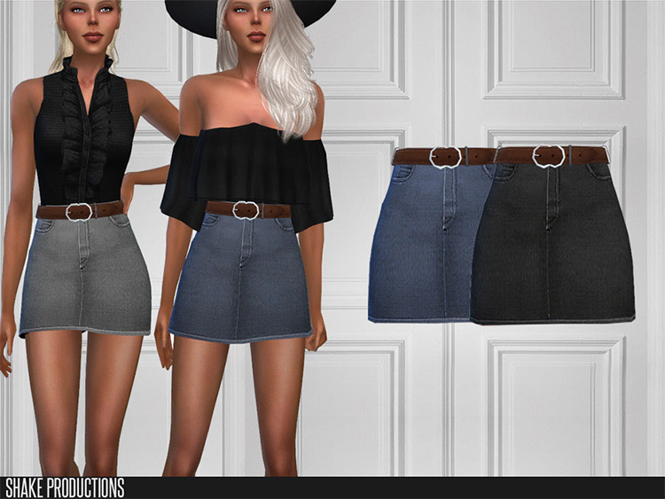 High-Waisted Skirt in Sims 4 CC