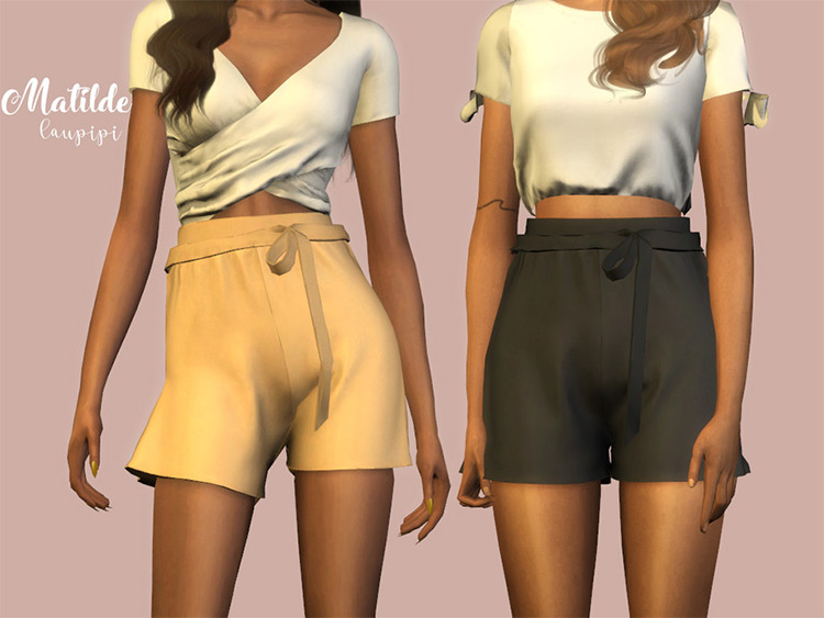 Cute High Waisted Shorts - Sims 4 CC