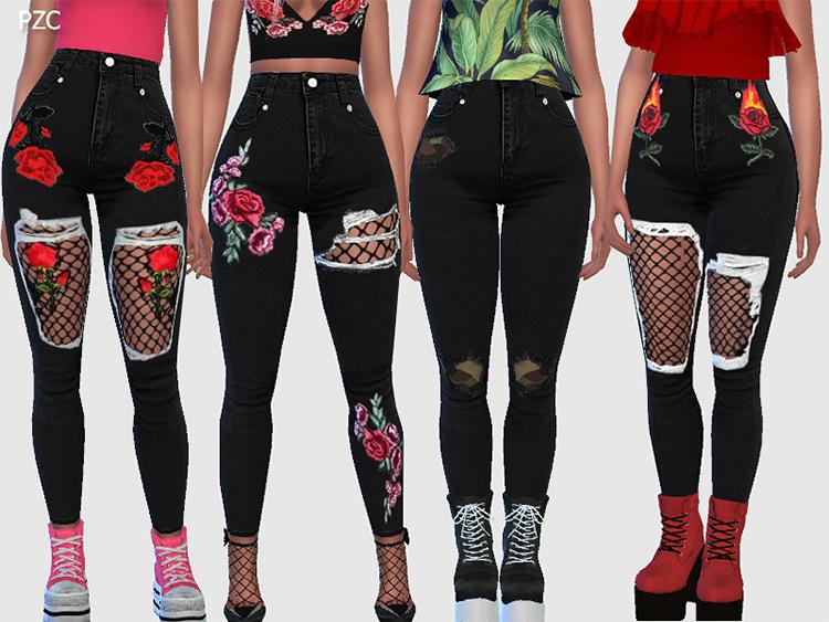 Nasty Girl Black Denim - Goth-style Jeans CC