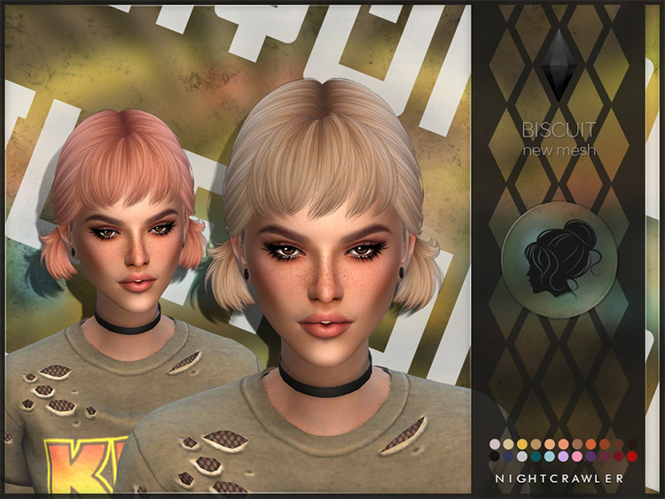 Short back pigtails hair style - Sims 4 CC