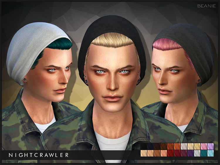 Nightcrawler Custom Content - Male Beanies for Sims 4