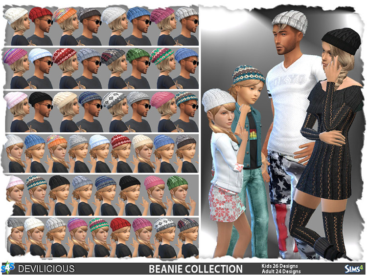 Big Beanie Collection - Custom Content Sims 4