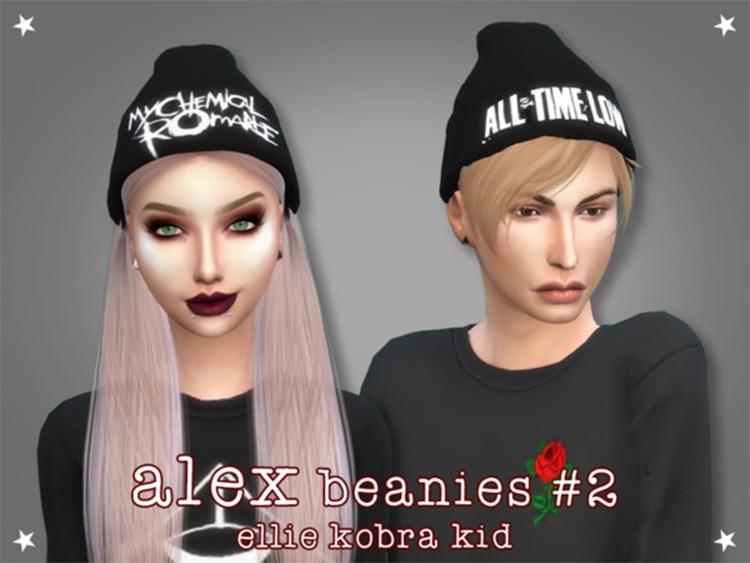 Punk Rock Beanie styles - Sims 4 CC