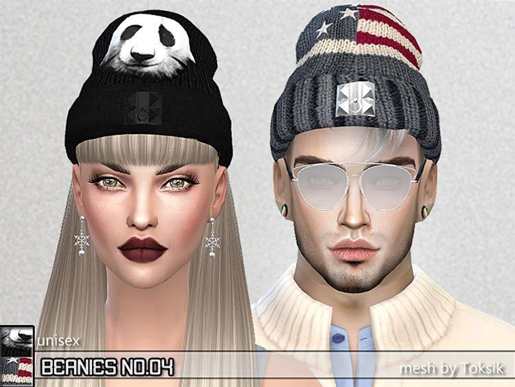 Special Design Mesh Beanies - Sims 4 CC