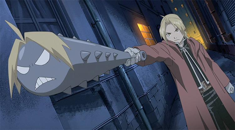 Fullmetal Alchemist Brotherhood Mace with Ed's Face - Anime Screenshot