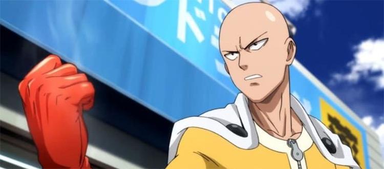 One Punch Man Bald Character - Anime Battle Screenshot