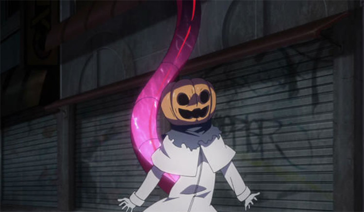 Tokyo Ghoul Pumpkin Head Character - Anime Screenshot