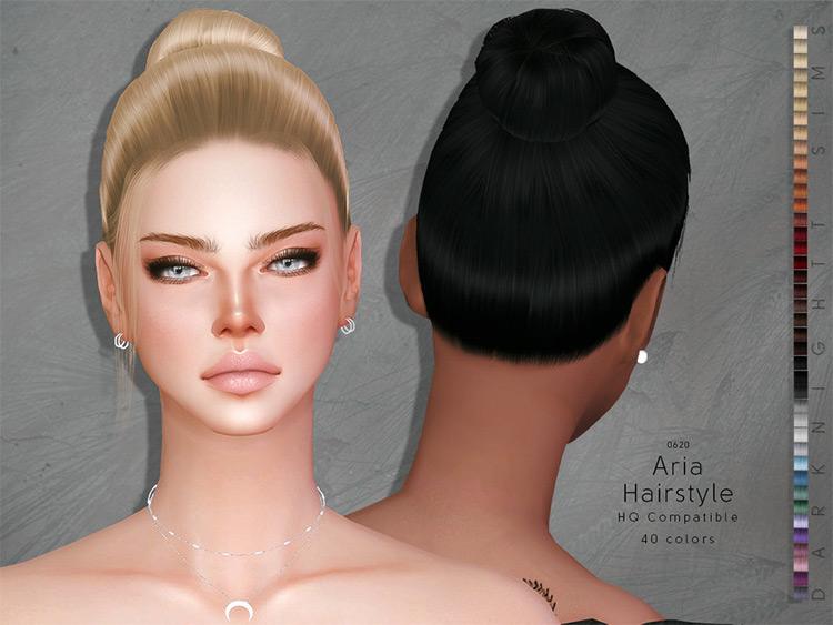 Aria Hairstyle - Sims 4 CC