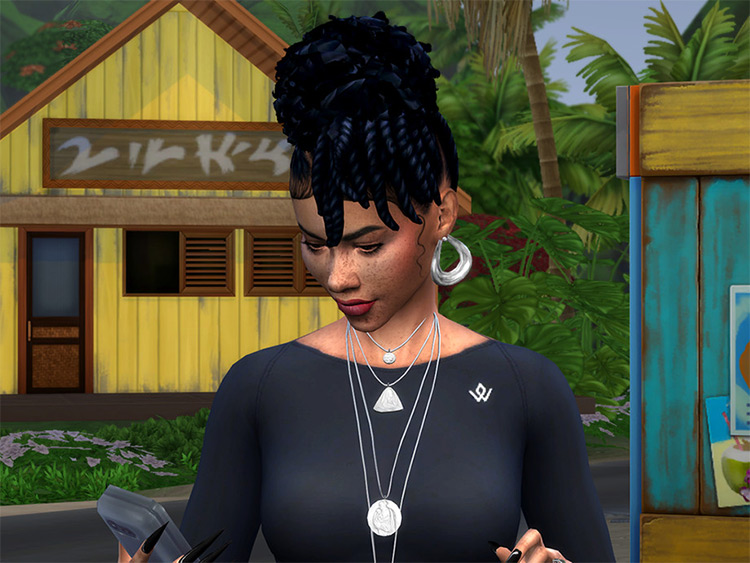 Twisted Natural Updo - The Sims 4 CC