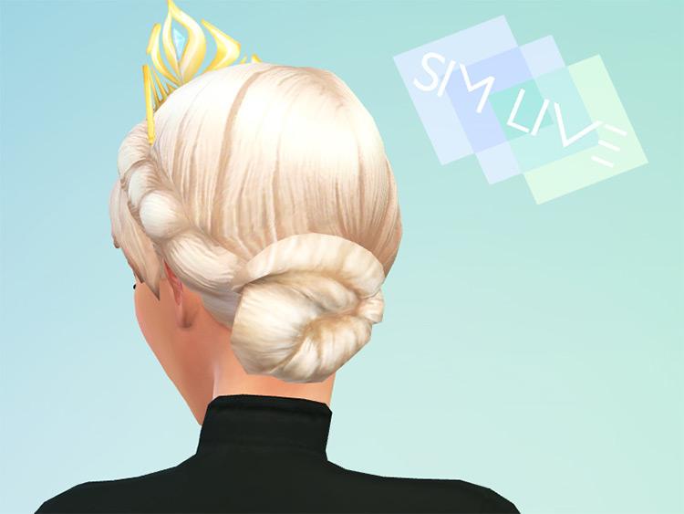 Elsa Frozen Coronation Hairstyle - Sims 4 CC