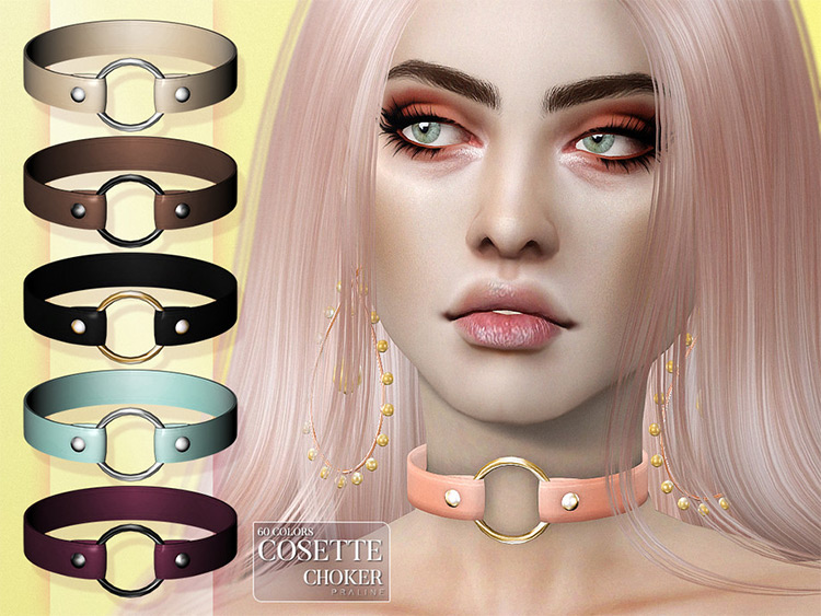 Cosette Choker Custom Content for TS4