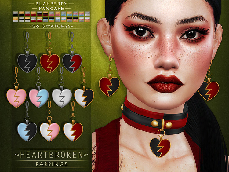 Heart Broken Choker for The Sims 4