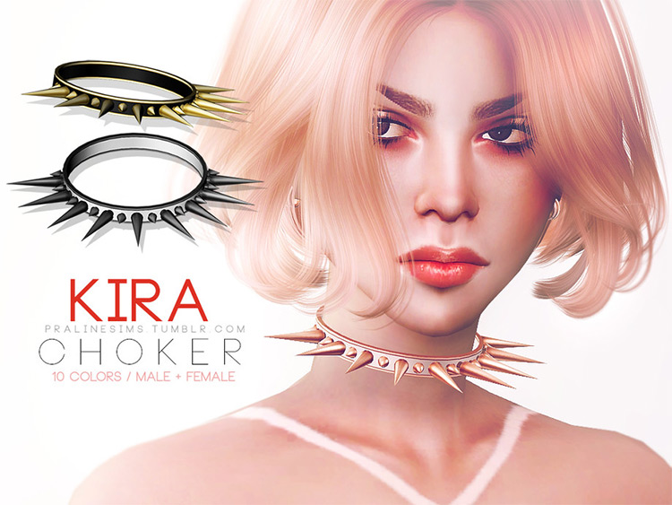 Kira Choker for The Sims 4