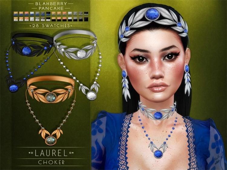 Laurel Leaf Choker Design - Sims 4 CC