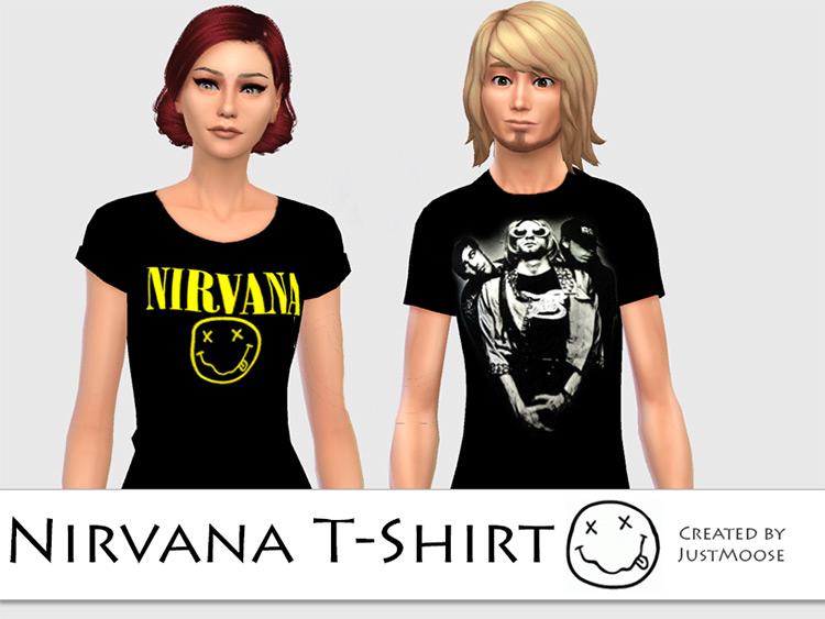 Nirvana T-Shirt - Sims 4 CC