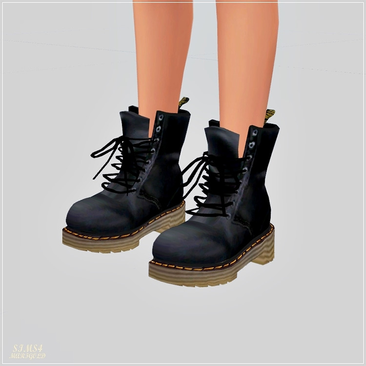 Marigold: Female Combat Boots for The Sims 4