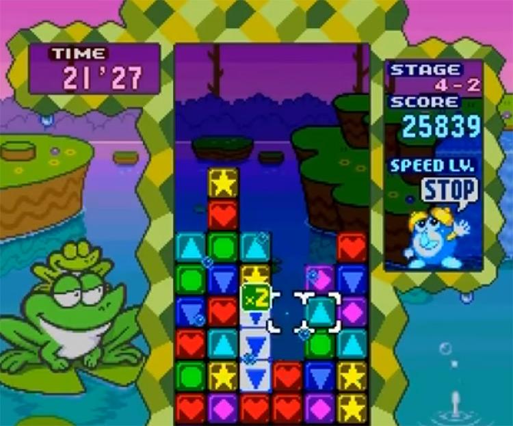 Tetris Attack for Super Nintendo (Screenshot)