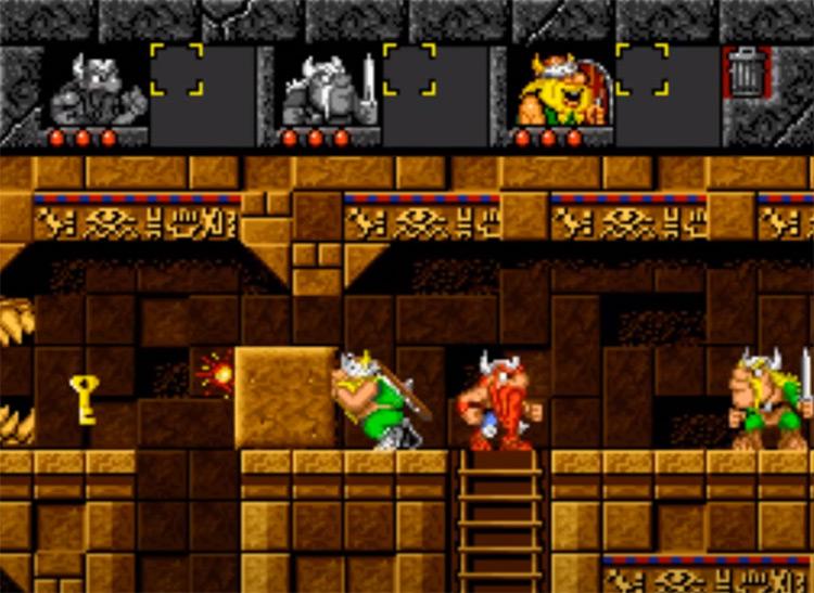 The Lost Vikings Super Nintendo - Gameplay Screen