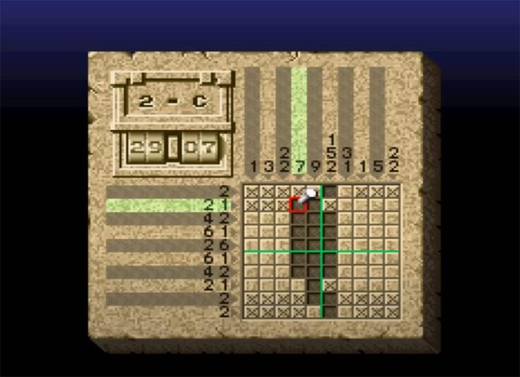 Mario's Super Picross - SNES Screenshot