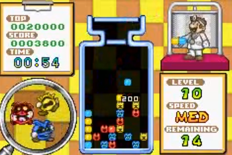 Dr. Mario and Puzzle League - GBA Game Screenshot