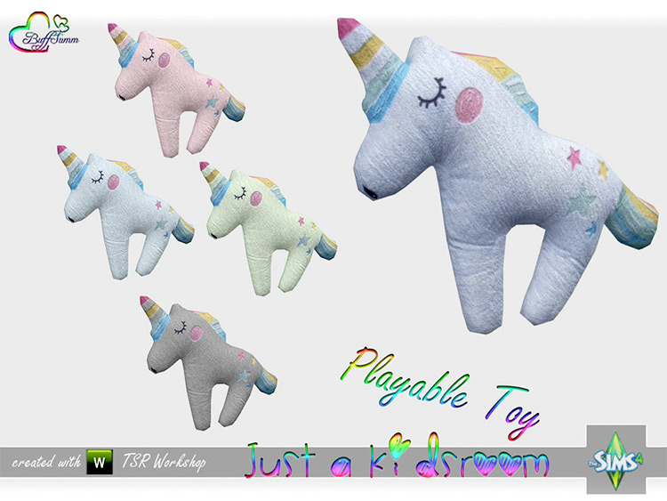Unicorn Plush Stuffed Animal - Sims 4 CC