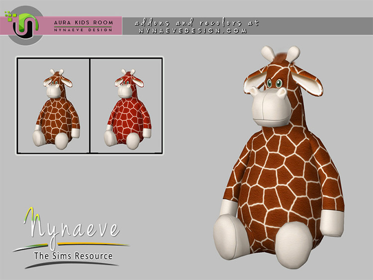 Giraffe Stuffed Animal - Sims 4 CC