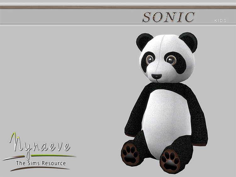 Panda Bear Stuffed Animal - CC for TS4