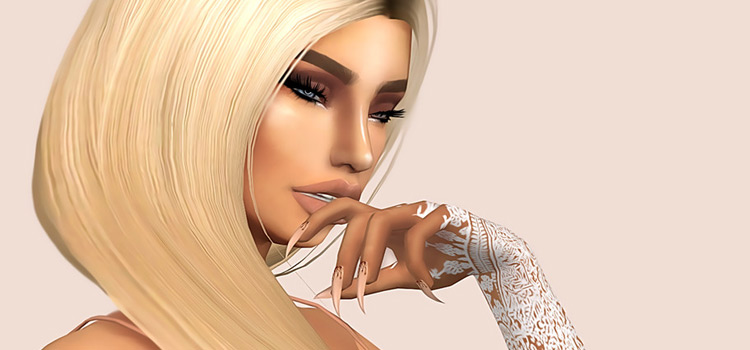 Custom Kylie Nails for The Sims 4