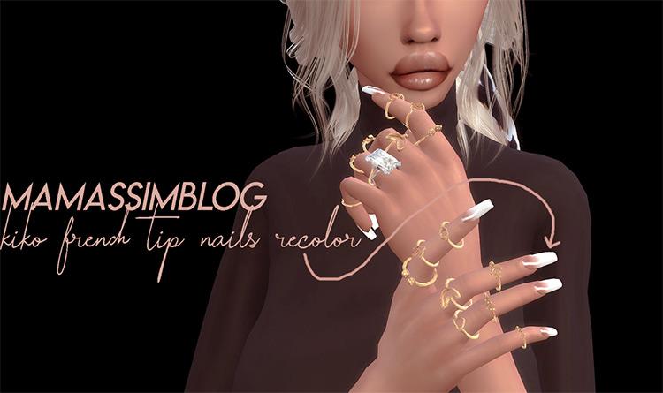 Kiko French Tip Recolors - Sims 4 CC