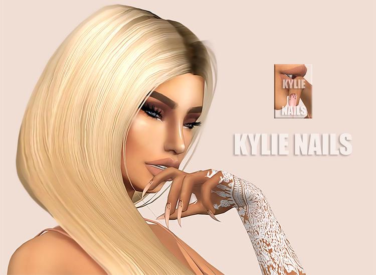 Kardashian Nails, Kylie Nails for Sims 4