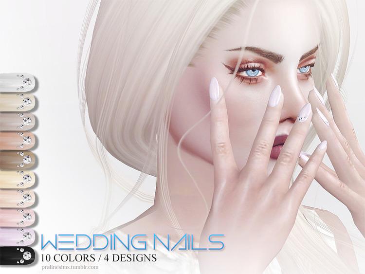 Custom Wedding Nails - Sims 4 CC
