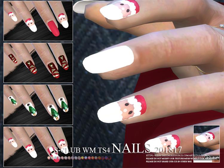 S-Club WM Nails 201817 - Christmas-Themed Nails CC