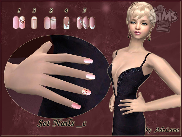 Natural French Manicure Sims 4 CC