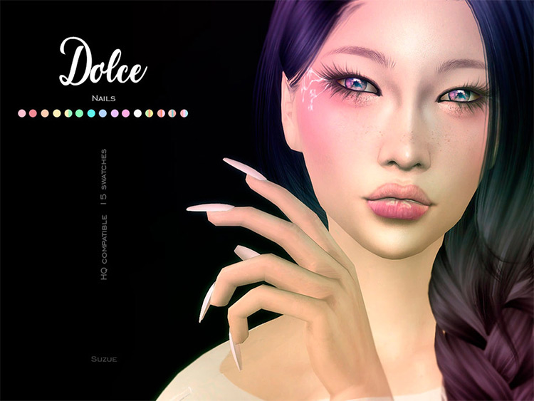 Dolce Nails for The Sims 4