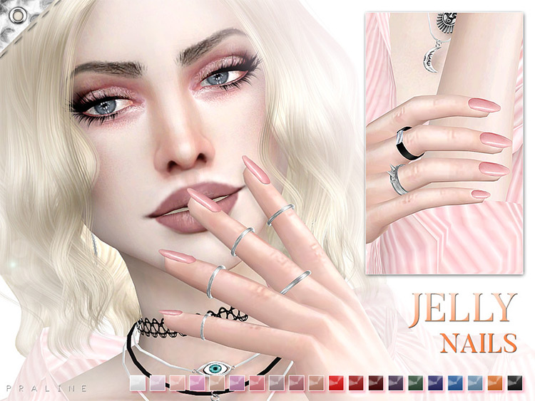 Jelly Nails CC for The Sims 4