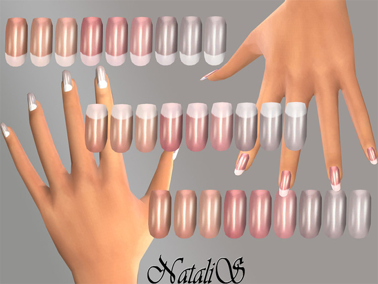 French Nails - Big CC set for TS4