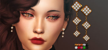 The Sims 4 Luxury Earrings Pack CC (Preview)