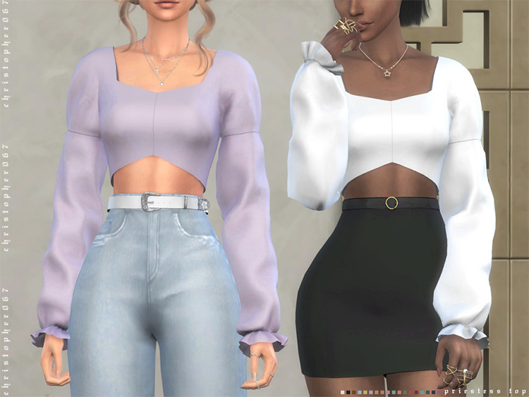 Priestess Top - Sims 4 CC