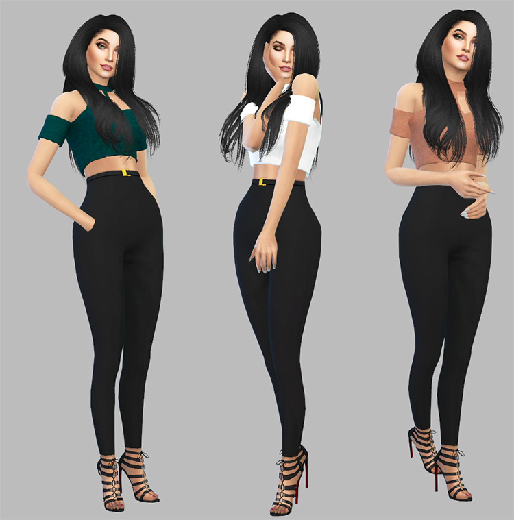 Cropped Top recolored - Sims 4 girls CC