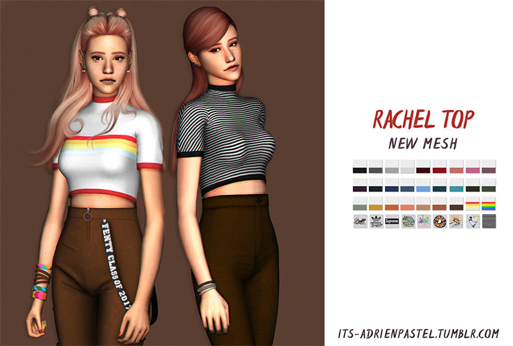 Rachel Top - Sims 4 CC