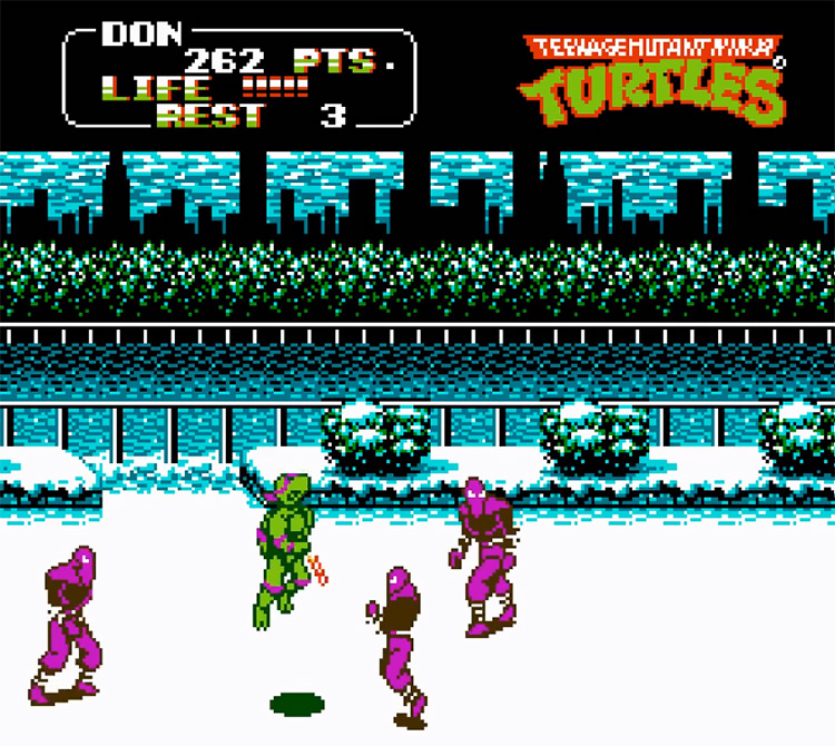 Teenage Mutant Ninja Turtles II - NES Screenshot