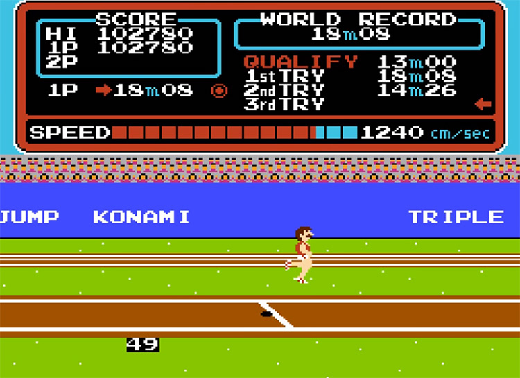 Track & Field - NES Screenshot