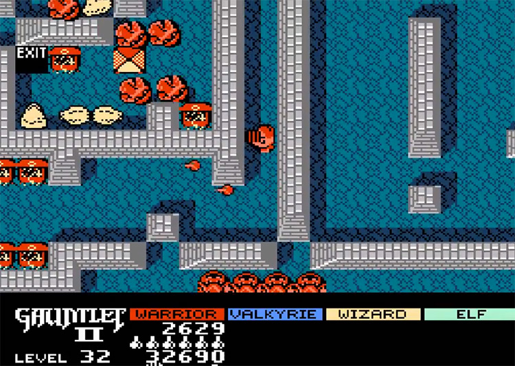 Gauntlet II - NES Screenshot